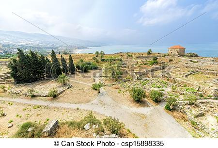 Stock Photos of Crusader castle, Byblos, Lebanon.