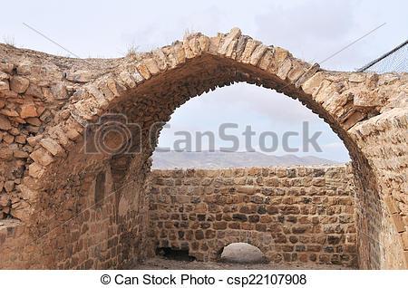 Stock Photography of Al Karak/Kerak Crusader Castle, Jordan.