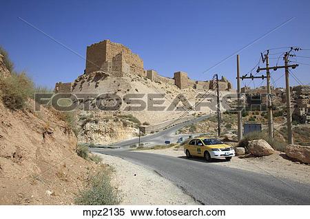Stock Image of The crusader castle of Kerak, Jordan mpz2135.