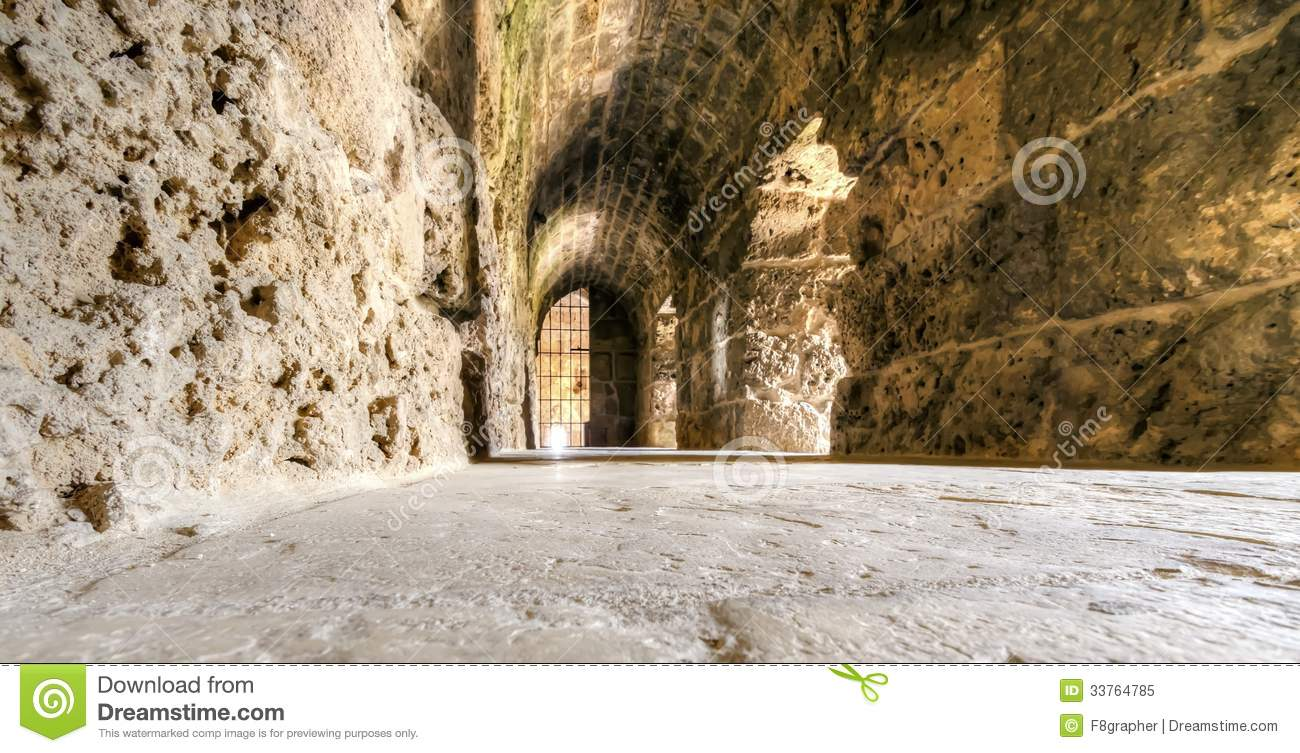 Crusader Castle, Byblos, Lebanon Royalty Free Stock Photo.