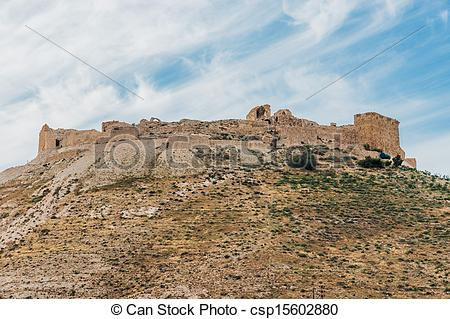 Pictures of shobak crusader castle fortress Jordan middle east.