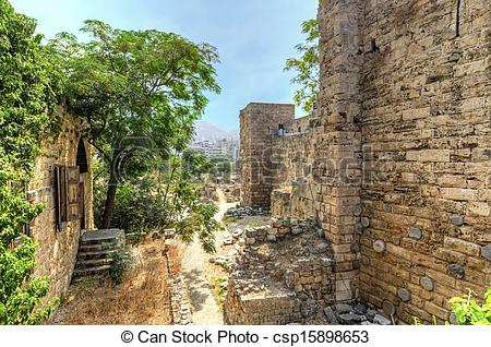 Stock Images of Crusader castle, Byblos, Lebanon.
