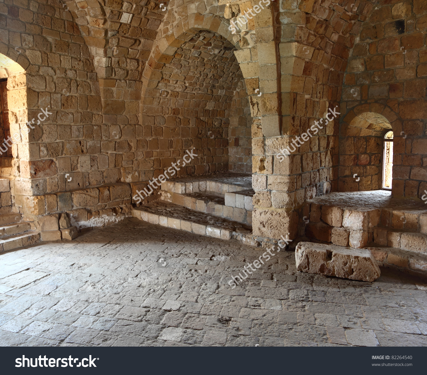 Inside Sidon Crusader Sea Castle Lebanon Stock Photo 82264540.