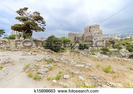 Stock Photo of Crusader castle, Byblos, Lebanon k15898663.