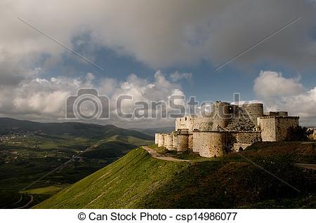 Crusader castle clipart #19