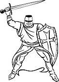 Crusader Clip Art.