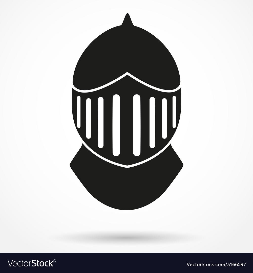 Silhouette symbol of Knights Helmet.