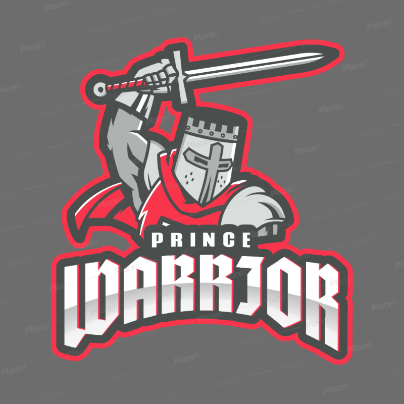 Online Logo Template with an Illustrated Crusader 2620d.