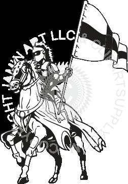 Crusader riding horse.