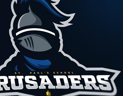 St. Paul's School Crusaders Mascot Logo.