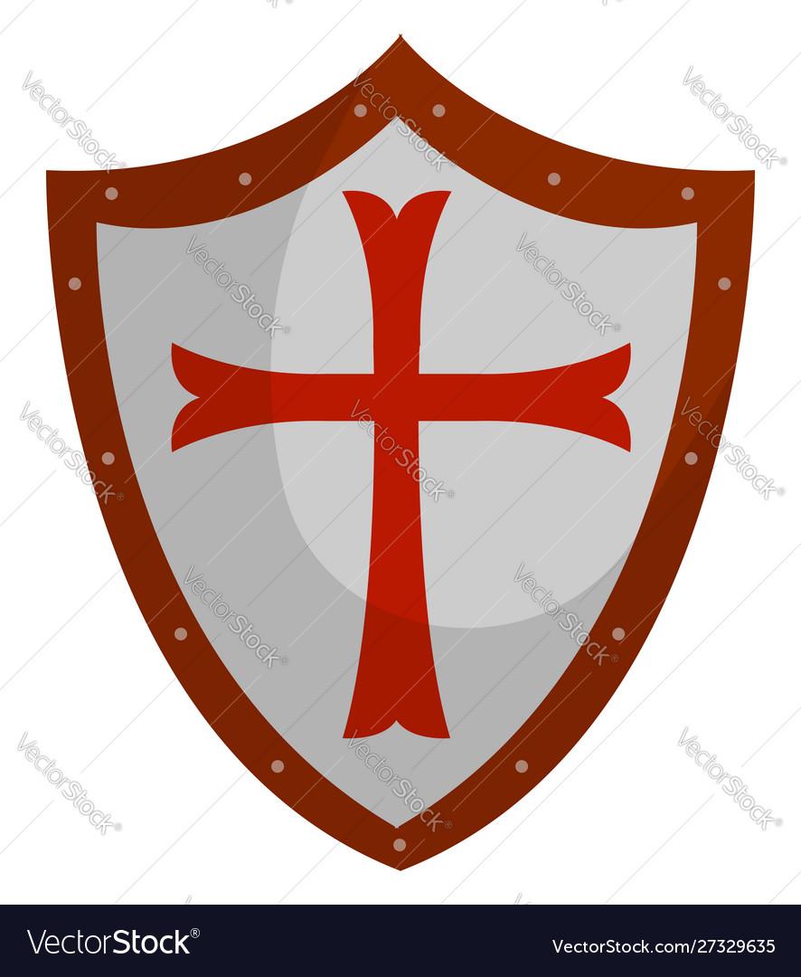 Crusader shield on white background.