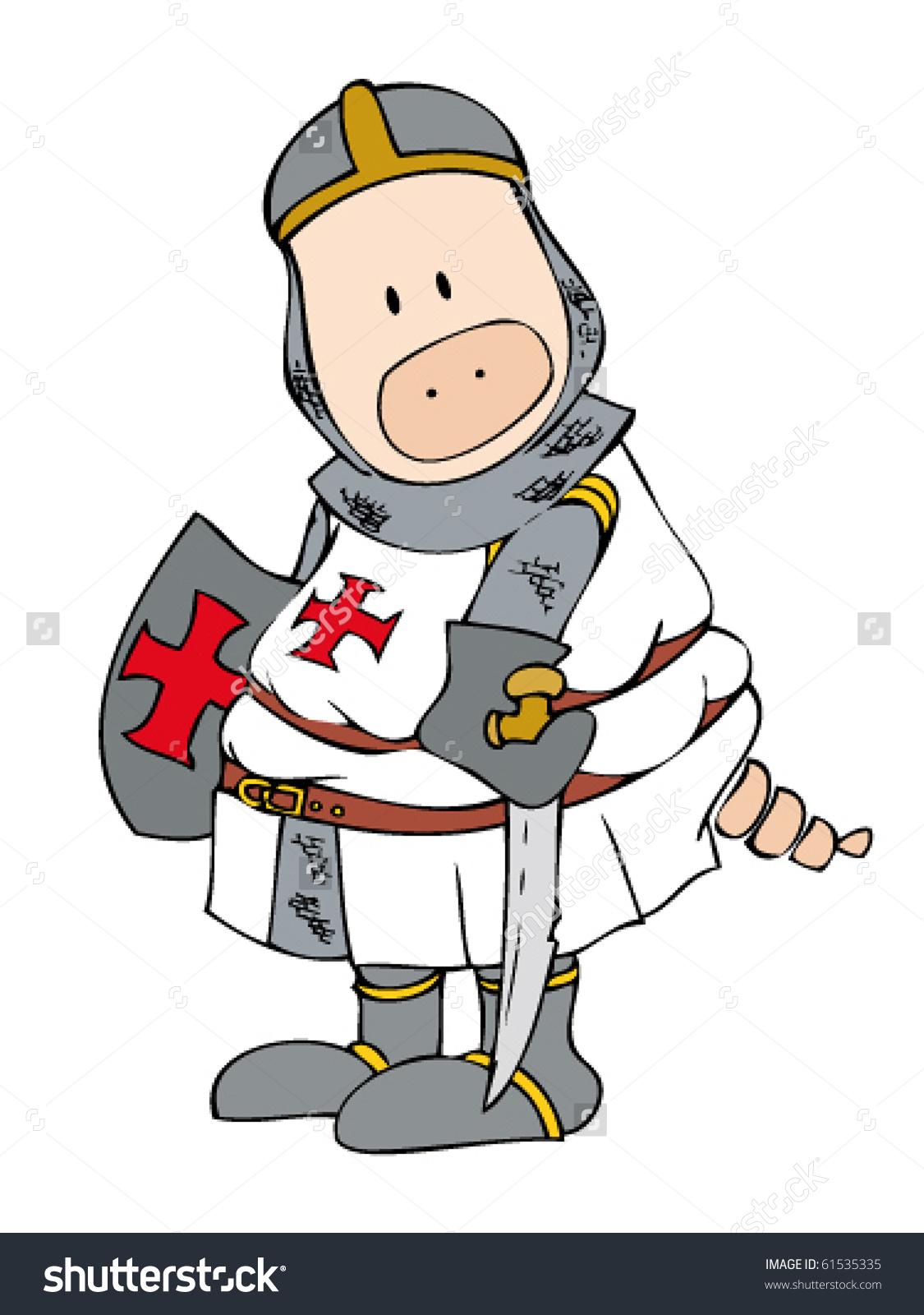 Crusader Pig Stock Vector 61535335.