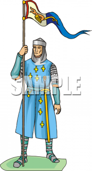 Clipart Picture of a Religious Crusader of Medieval Times.