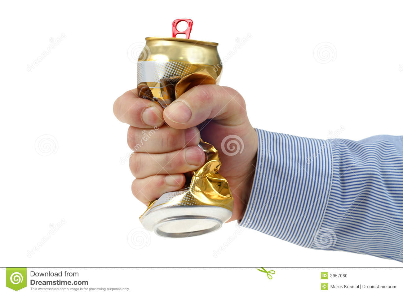 Crushed beer can clipart.