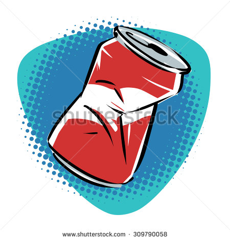 Crushed can clipart.