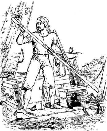 Robinson Crusoe clip art Free Vector.