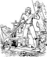 Robinson Crusoe The Wreck clip art Free Vector.