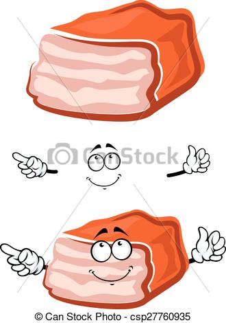 Vectors of Meat loaf cartoon character with roasted crust and.