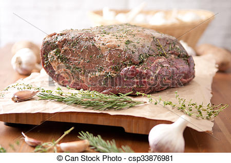 Pictures of raw beef rib roast.