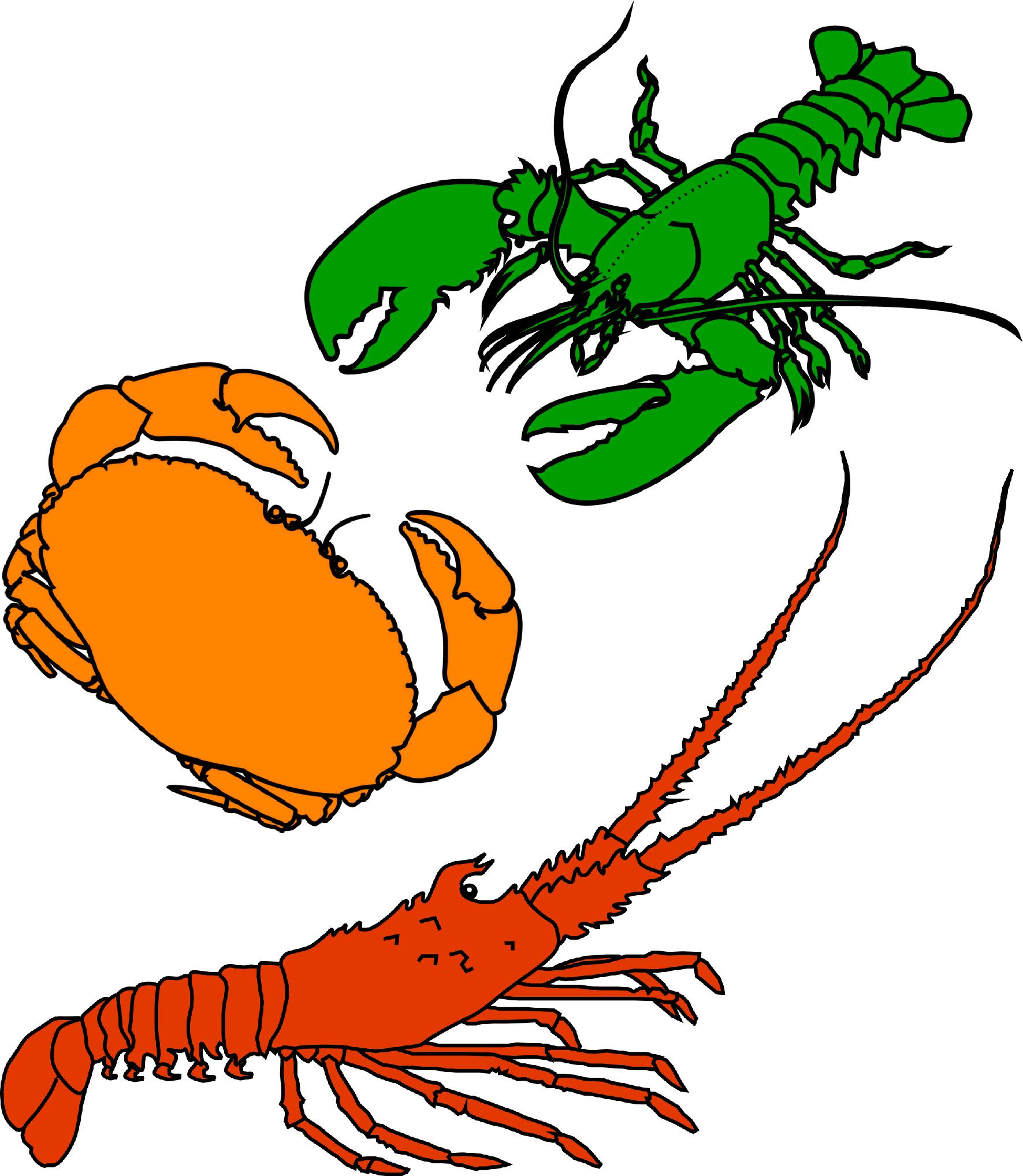 Crustacean Clipart.