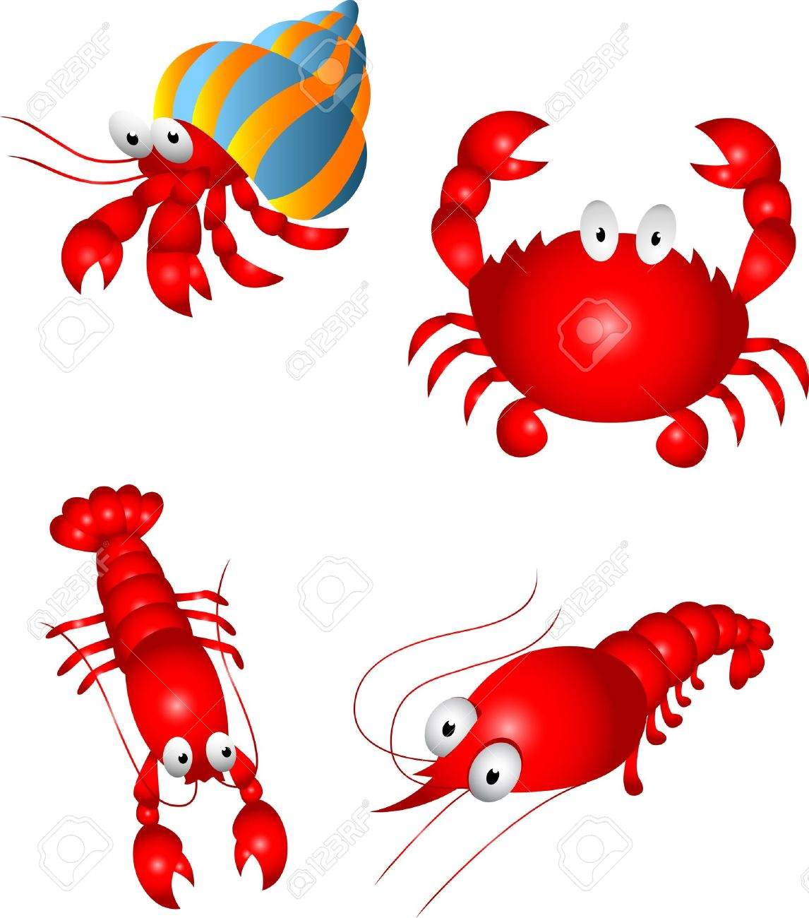 Crustacean Character Royalty Free Cliparts, Vectors, And Stock.
