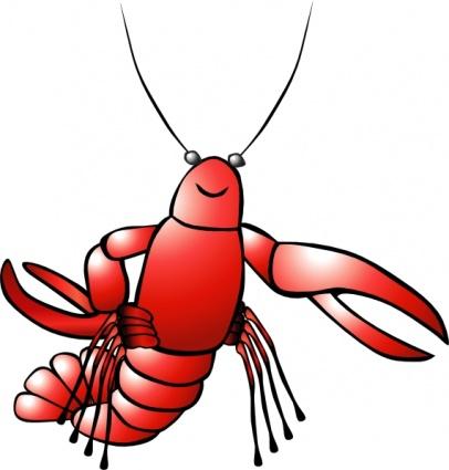 Crawfish clip art Free Vector.
