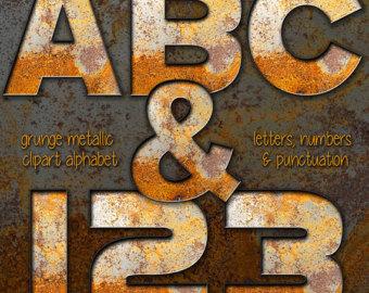 Rusty metal letters.