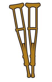 Crutches Clipart.