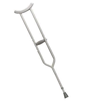 Drive Medical Bariatric Heavy Duty Crutches, Gray, Adult.