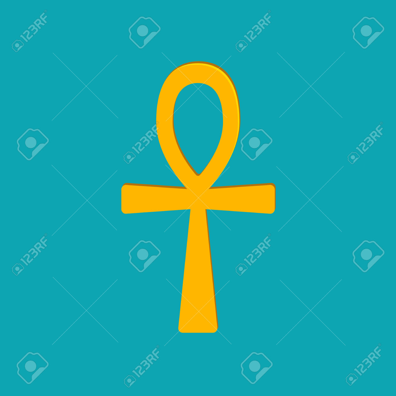 Ankh Hieroglyph, Or Key Of Life, Key Of Nile, Crux Ansata. Ancient.