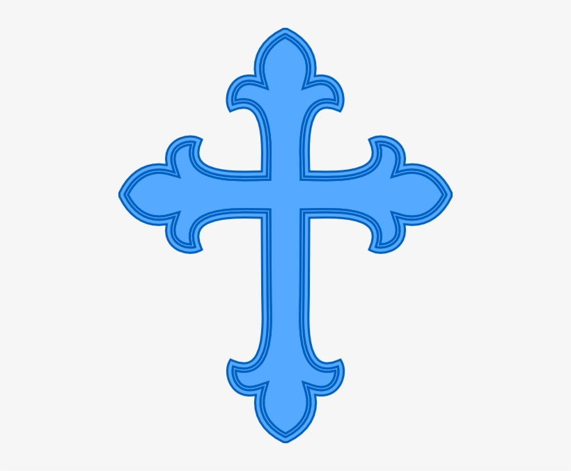 Bautismo Cruz Azul Clip Art.