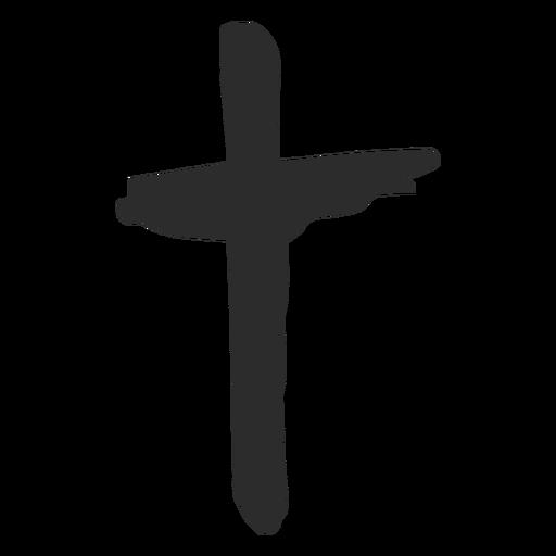 Cruz doodle ícone.