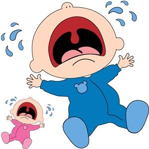 Crying baby.