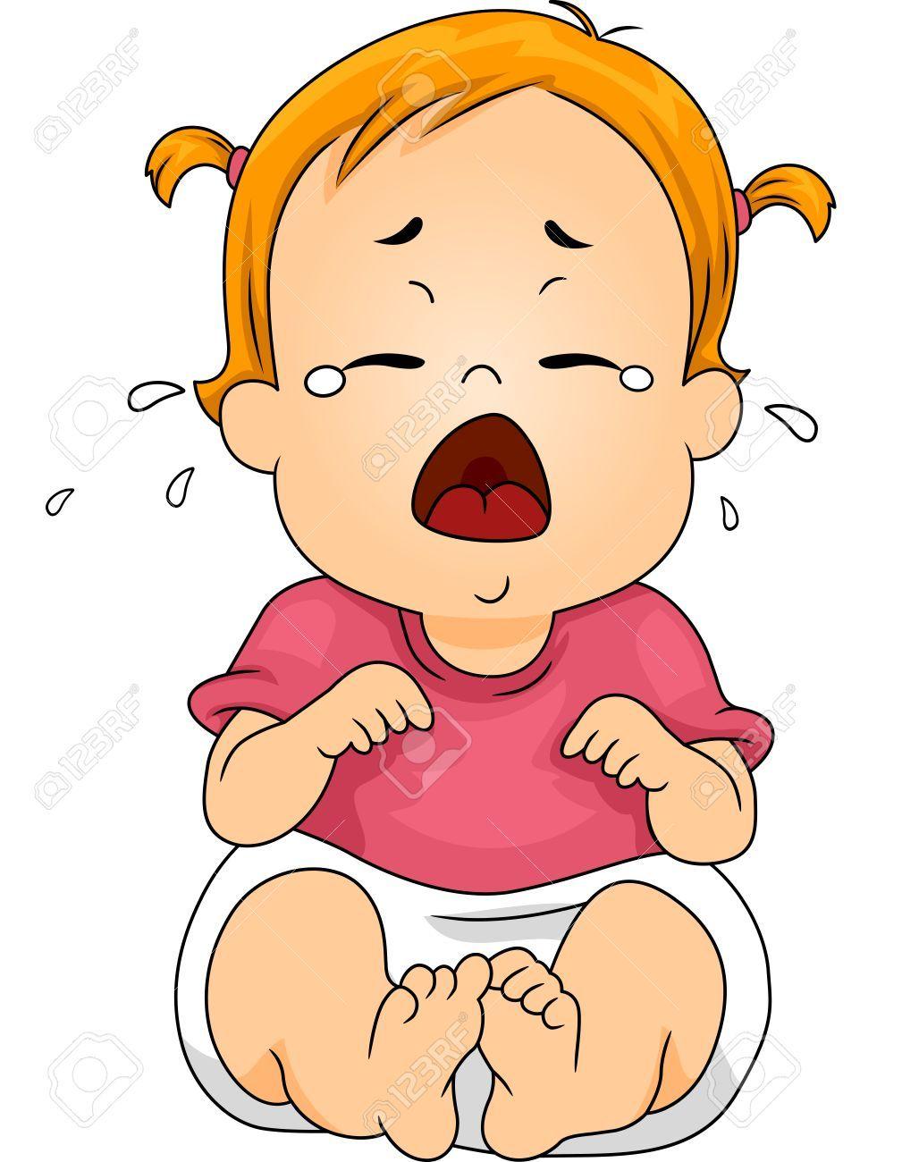 Crying Baby Drawing.