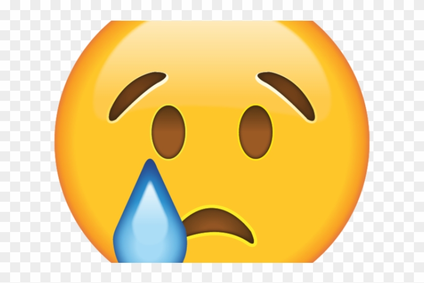 Crying Emoji Clipart Face.