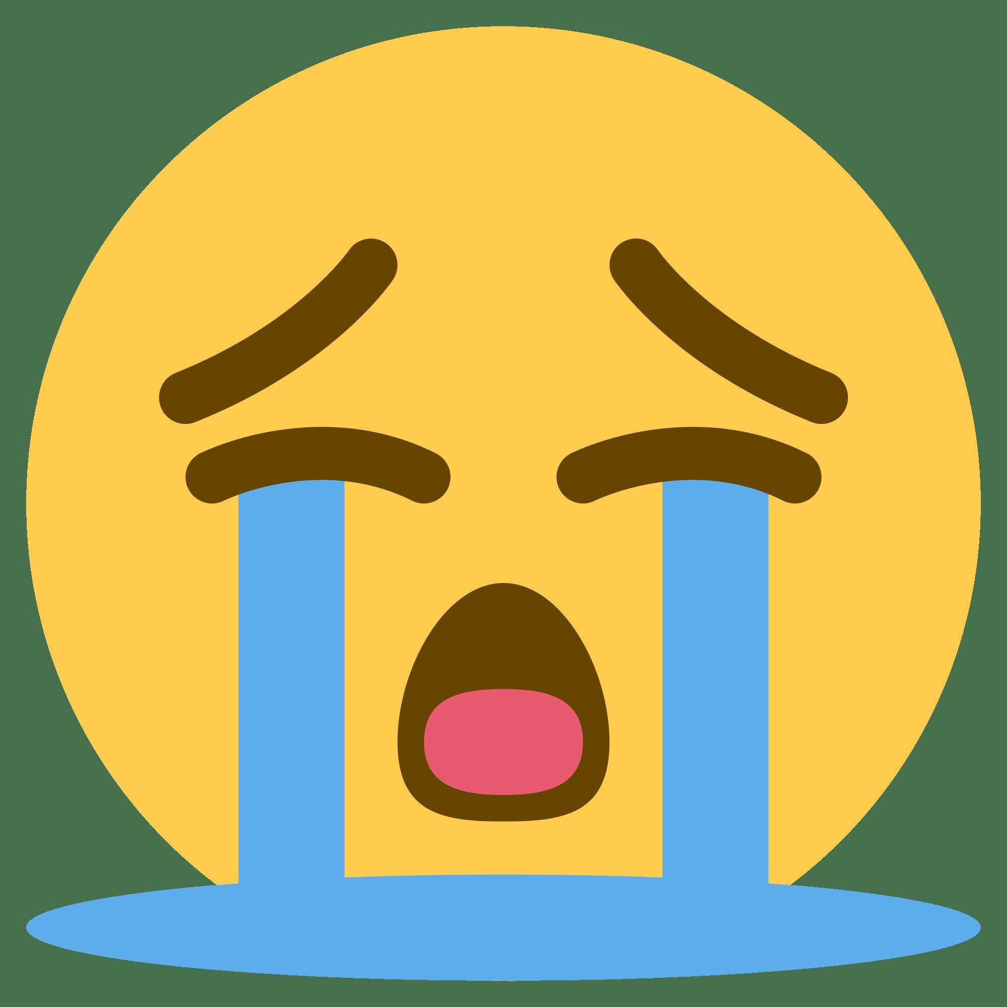 Crying Emoji transparent PNG.