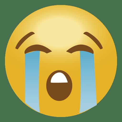 Cry emoji emoticon.