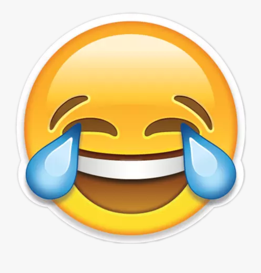 Transparent Background Cry Laugh Emoji Clipart , Png.