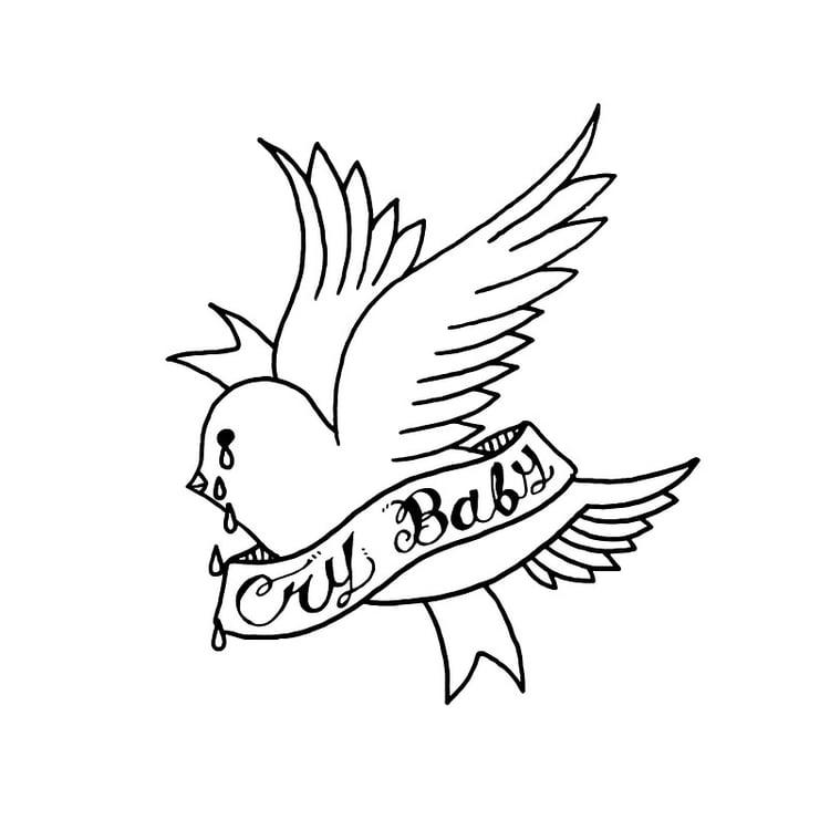 Lil Peep Crybaby logo, no background.