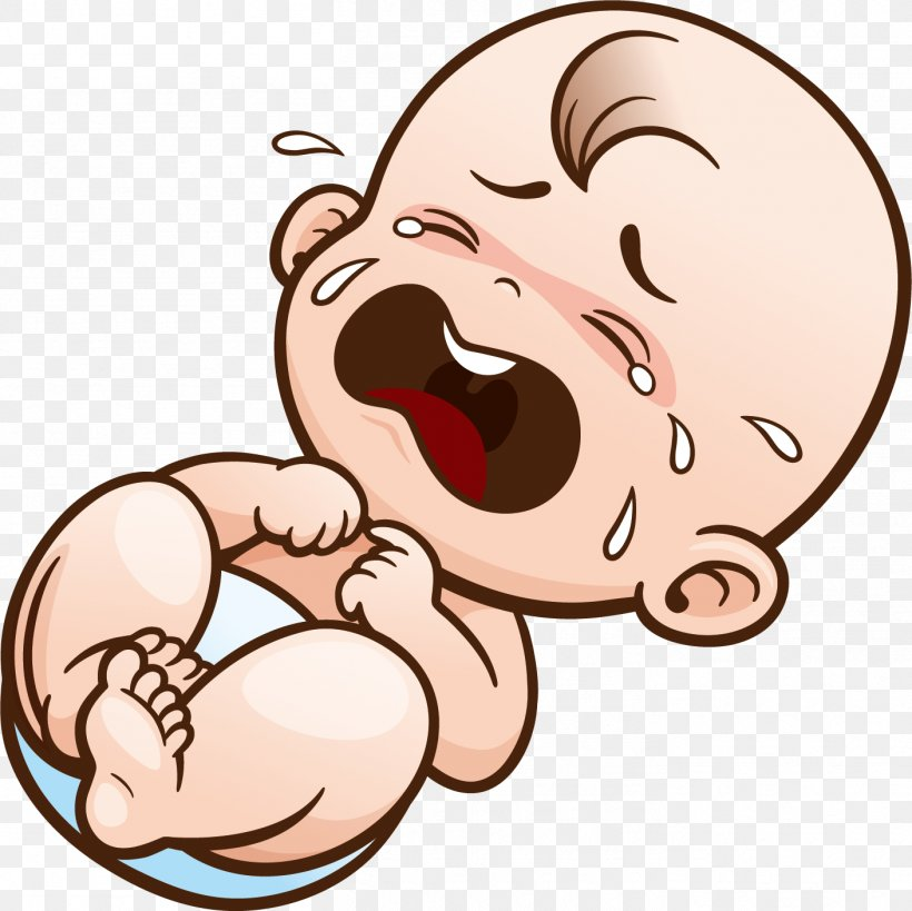 Crying Cartoon Infant Clip Art, PNG, 1409x1408px, Watercolor.