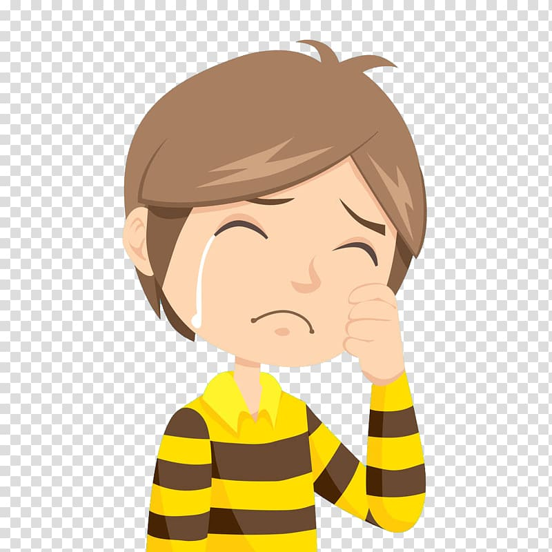 The Crying Boy Cartoon , The crying boy, man crying illustration.