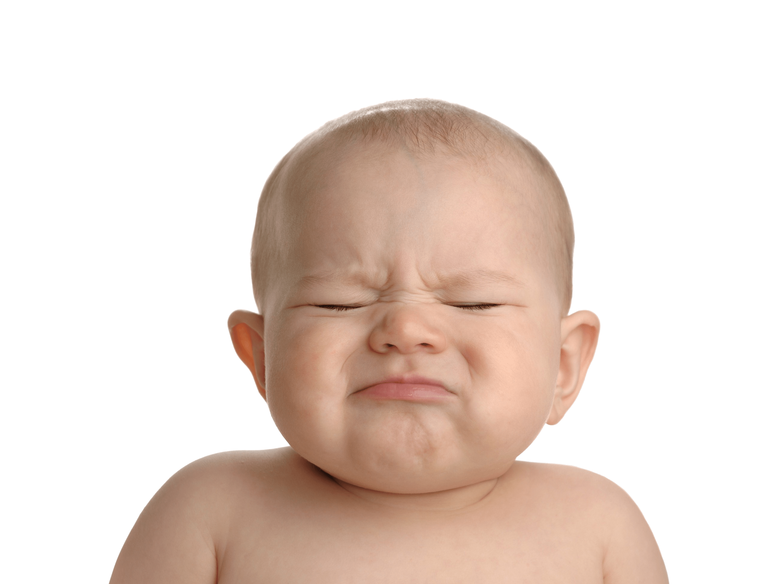 Baby Crying PNG Image With Transparent Background.