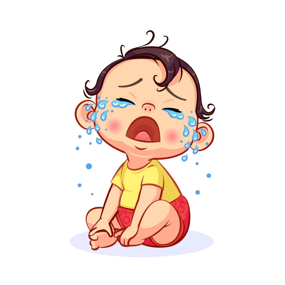 Crying Clipart bad baby 18.