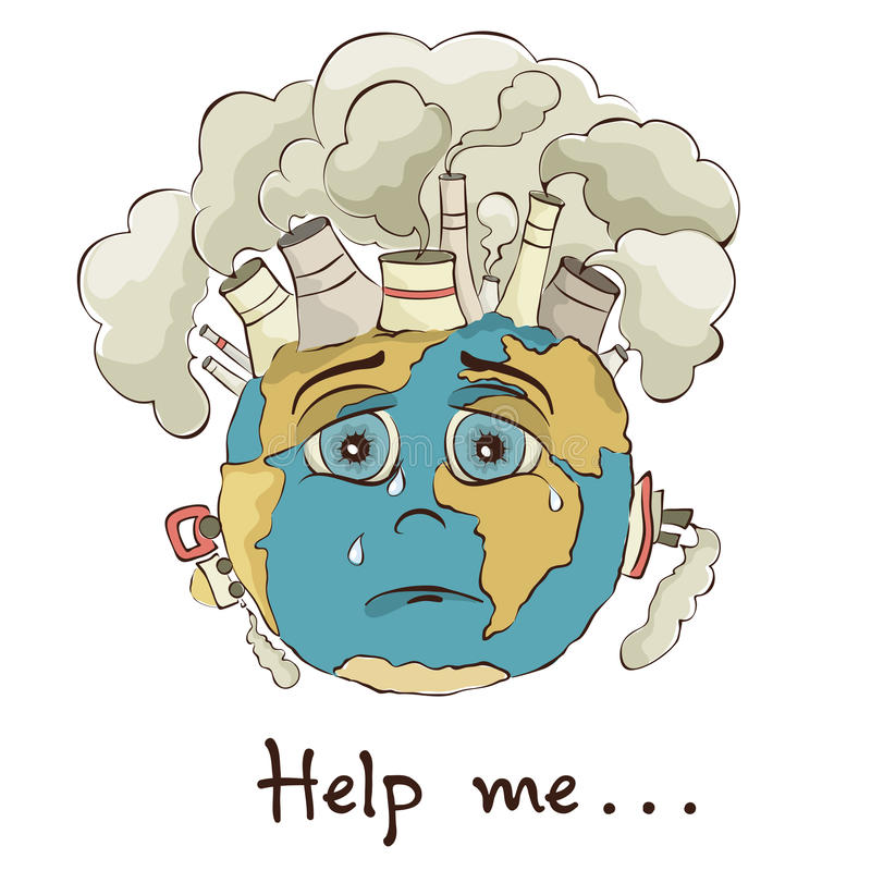 Crying Earth Stock Illustrations.