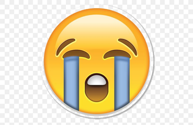Face With Tears Of Joy Emoji Crying Emoticon Sticker, PNG.