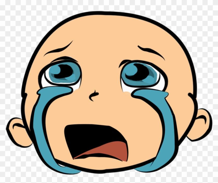 Cartoon Crying Face.