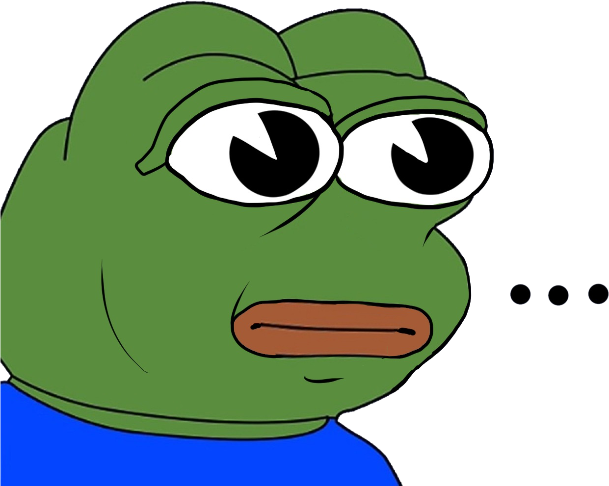 Pepe The Frog Crying Png Clipart.
