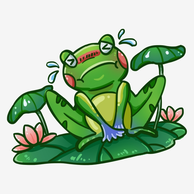 Crying Cartoon Frog, Cartoon Frog, Cartoon Animal Cartoon, Animal.