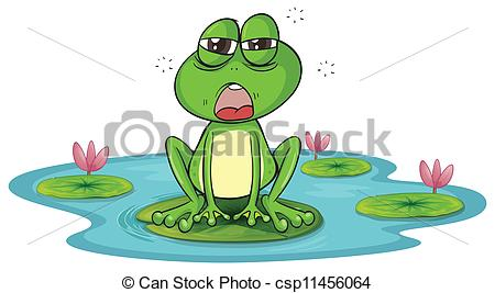 a frog and a water.