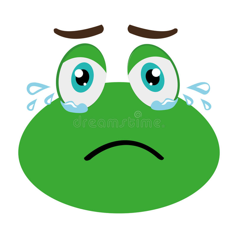 Frog Crying Stock Illustrations.